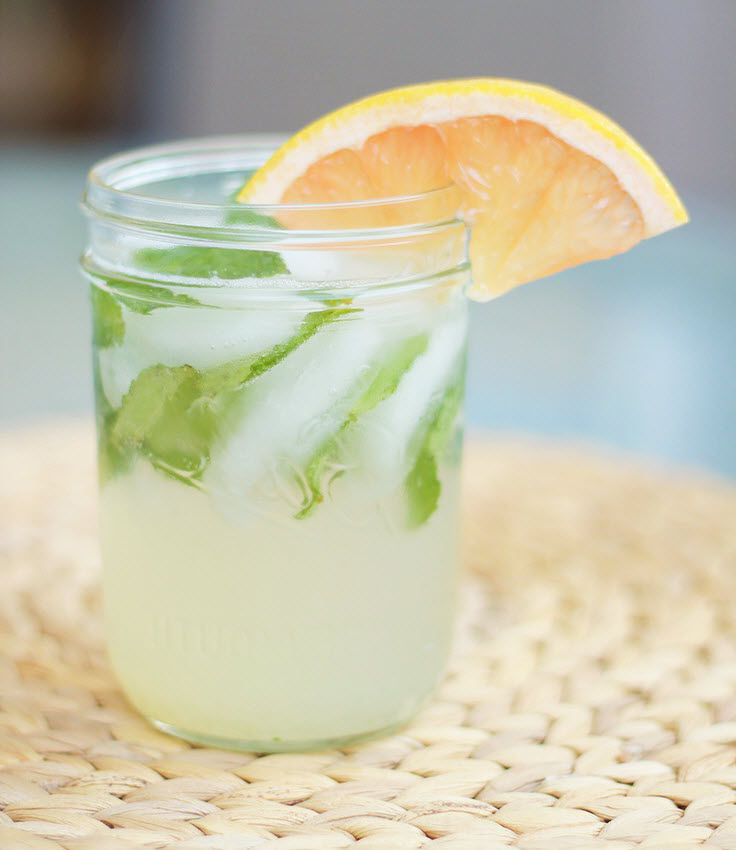 Champagner Cocktail Grapefruit Mojito